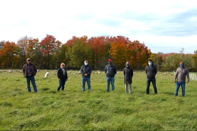 Mentorship program participants on farm tour